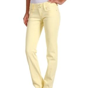 Lilly Pulitzer Worth Straight Jeans Yellow 3310
